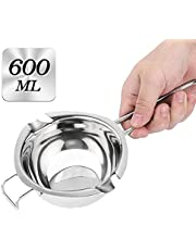 Double Boiler - 304(18/8)600ML Stainless Steel Melting Pot with Heat Resistant Handle, Large Baking Tools for Melting Chocolate, Butter, Candy and Candle