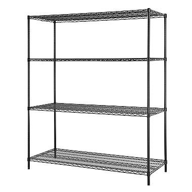 Excel Heavy Duty 4-Tier Wire Shelving, 60''W x 24''D x 72''H by Excel