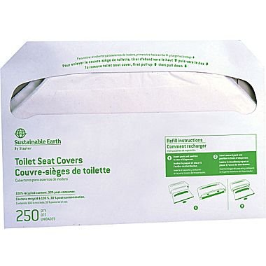 Sustainable Earth by Staples Toilet Seat Covers, 5000/Carton (SEB24779)