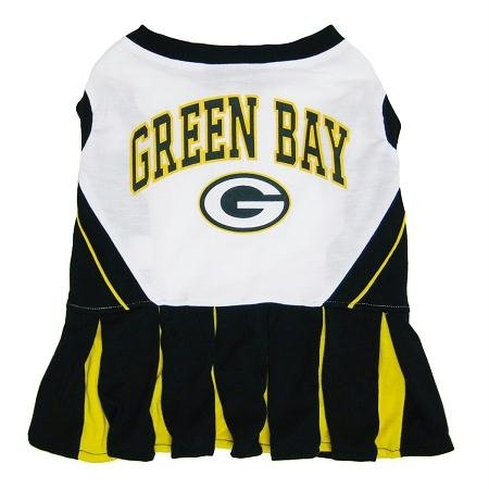 Pets First Green Bay Packers Pet Cheerleader Uniform Extra Small