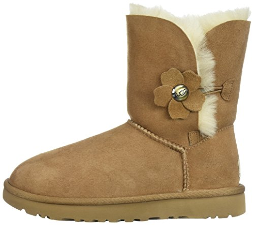 Chestnut Marron Poppy Ugg Button Bottes Bailey wBTqWYIC