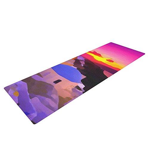 "Kess InHouse Oriana Cordero ""My Konos"" Yoga Exercise Mat, Pink/Sunset, 72 x 24-Inch For Sale"
