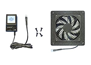 Enclosed Cabinet AV Cooling fan system with multi-speed control ...
