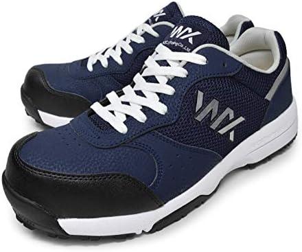 [テクシーワークス] プロスニーカー 安全靴 WX-0001 3E 紐 ユニセックス ネイビー 26.5cm