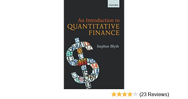 an introduction to quantitative finance stephen blyth pdf free