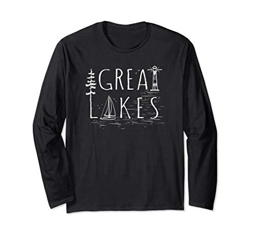 Great Lakes Sailboat Lighthouse Lake Life long sleeve shirt