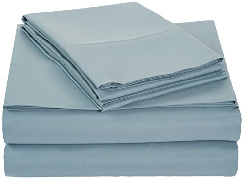 AmazonBasics Microfiber Sheet Set - Full, Spa Blue