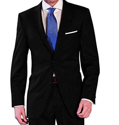 Tuta da uomo in lana vergine in antracite, marca Lanificio tessuti Italia (44–60, 24–30, 90–114)