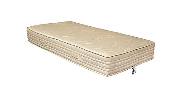 Yanis Látex Sentido 24 cm 100% látex orgánico con 3000 Bolsillo colchón de muelles, Tela, Beige, 160x200cm: Amazon.es: Hogar