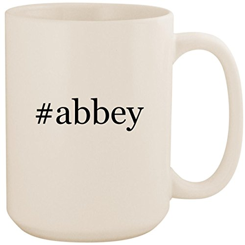 - #abbey - White Hashtag 15oz Ceramic Coffee Mug Cup