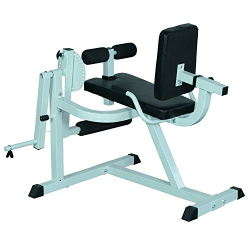 Soozier Adjustable Lower Body Leg Curl Fitness Machine - White/Black
