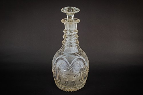 Cut Glass Antique Port Red Wine Sherry DECANTER Georgian CARAFE Gift Barrel Crystal Early 1800s LS