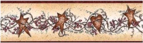Hearts and Stars Wallpaper Border by Chesapeake 65171B ()