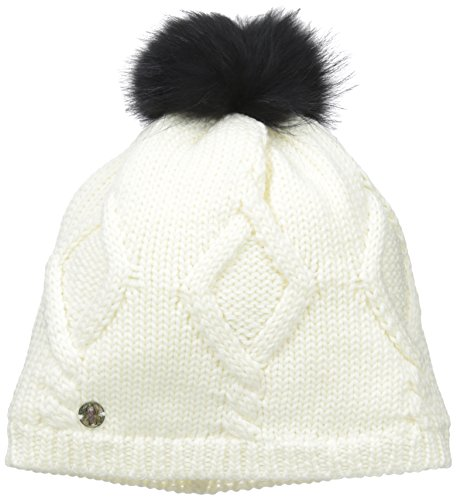 Spyder Women's Knit Wit Hat, White, One Size (Hat Spider Womans)
