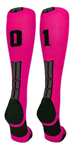 MadSportsStuff Neon Pink/Black Player Id Over The Calf