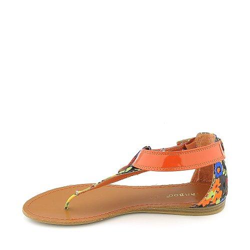 Bamboo Womens Ashley-27 Sandal Orange/Multi 9kBDZeZ