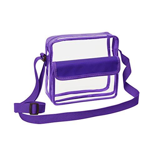 Clear Cross-Body Messenger Shoulder Bag w Adjustable Strap, NFL Stadium Approved Transparent Purse - Target Strap Sunglasses