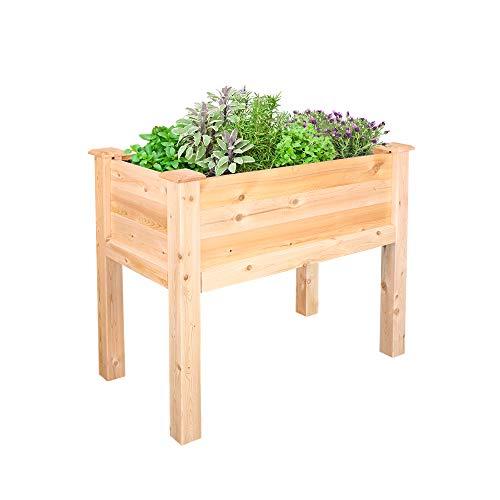 (Greenes Fence Cedar Elevated Garden Bed, 32