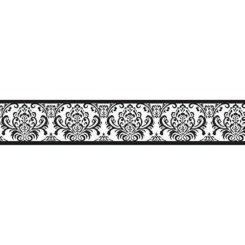 Sweet Jojo Designs Black And White Isabella Baby Kids Wall Border