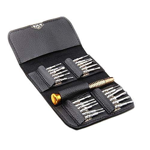 25 PC Small Mini Precision Screwdriver Set Watch Jewelry Electronic Repair Tool, Tools & Home Improvement, Product for Home (Black)