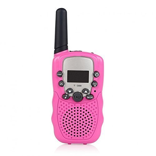 A Pair Zastone T-388 Mini Walkie Talkie 1W 462-467MHz Two Way Radio Pink (Recharge Total Extend Color)