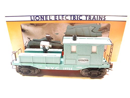 Lionel 19714 New York Central Work Caboose with operating smokestack and an operating searchligh