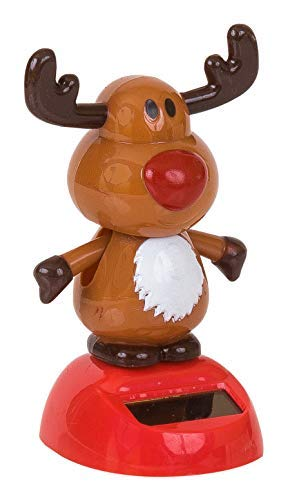 Motion Dancer Figurine for Car Dashboard or Windowsill The Paragon Reindeer Solar Powered Toy