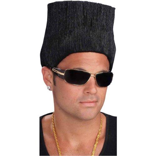 Forum Novelties Men's Hip Hop High Top Fade Costume Wig, Black, One Size