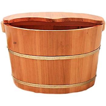 Amazon Com Foot Bath Barrel Wooden Foot Basin Health
