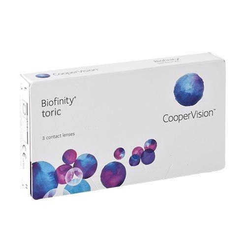 Biofinity Toric, torische Monatslinsen weich, 3 Stück / BC 8.7 mm / DIA 14.5 / CYL -1,25 / Achse 090 / -02,25 Dioptrien