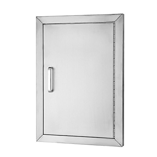 Check Out This Happybuy BBQ Door Stainless Steel Flush Access Door 14WX 20H Single Door Right-Hing...
