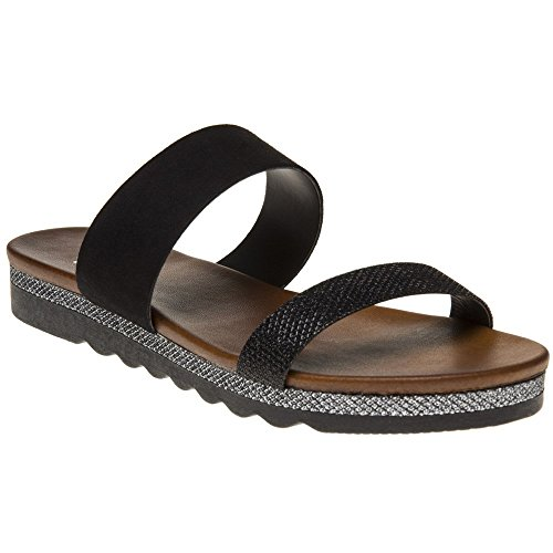 Amabel Amabel Black Sole Metallic Sandals Amabel Sole Sole Metallic Sandals Black qnSt4t