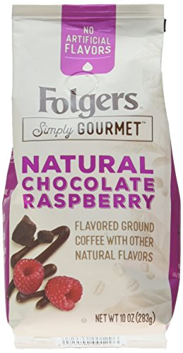 (Folgers Simply Gourmet Flavored Ground Coffee with Other Natural Flavors, Chocolate Raspberry, 10 Ounce)