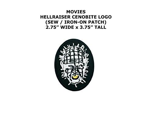 [Hellraiser Cenobite Horror DIY Embroidered Sew or Iron-on Applique Patch Outlander Gear] (Diy Hellraiser Costume)