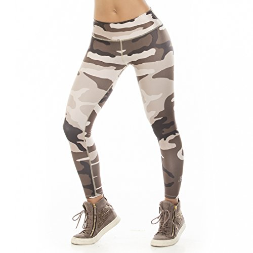 Workout Tights by Difit Sportwear -Yoga & Running Workout Pants-Active Leggings,One Size,Beige