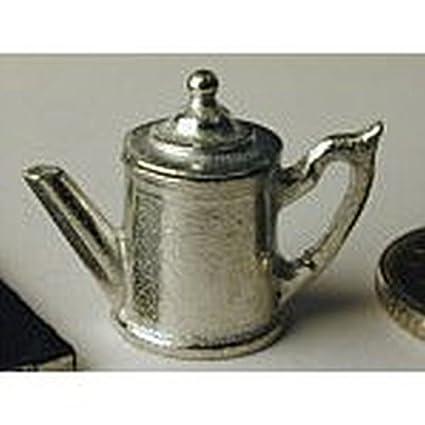 Dollhouse Miniature Polished Pewter Tea Server Set