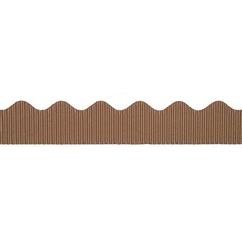 Corrugated Scalloped Border - Bordette PAC37026BN Decorative Border, Brown, 2-1/4