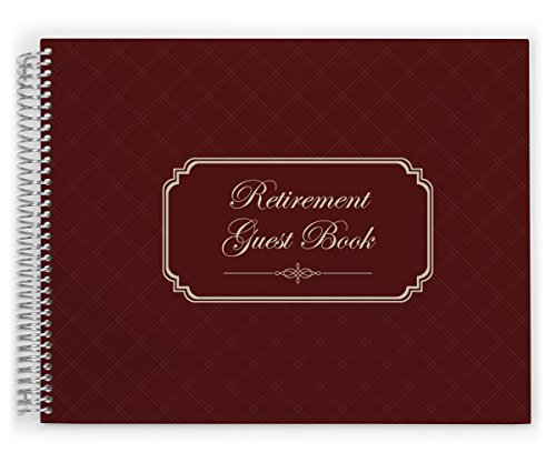 Retirement Guest Book by PurpleTrail, Retirement Party Guestbook, Elegant Frame Design