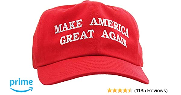 b97daf7cad5 Make America Great Again - Donald Trump 2016 Campaign Cap Hat (002) Red at  Amazon Men s Clothing store