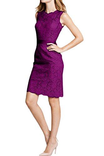 Fuchsie Linie Rundkragen Etui Spitze Abendkleid Ivydressing Damen Festkleid 4vx0xpn