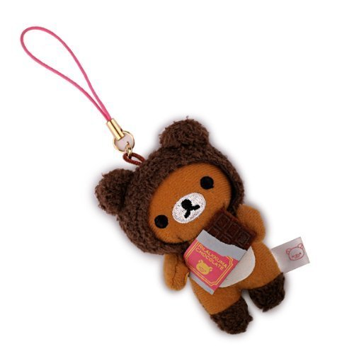 te Plush Doll Cleaner Cell Phone Strap (Rilakkuma/Chocolate) (Plush Doll Cell)