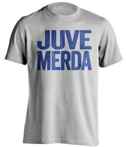 Beef Shirts Juve Merda - Inter Milan FC Fan Shirt - Haters Gonna Hate - Grey - Large