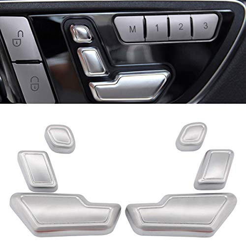 (XtremeAmazing Pack of 6 Chrome Driver and Passenger Side Door Seat Adjust Buttons Switch Set)