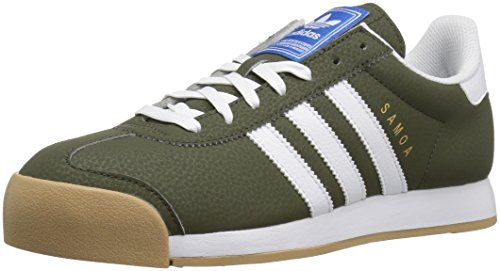 adidas Originals Mens Samoa Retro Sneaker Night Cargo White/Blue Bird