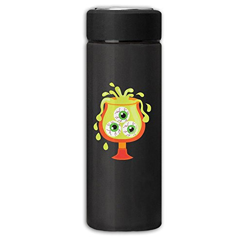 Halloween Drink Clipart Vacuum Cup Stainless Steel Frosted Travel Mug With Tea Leaf Filter,Business Hydration Bottle