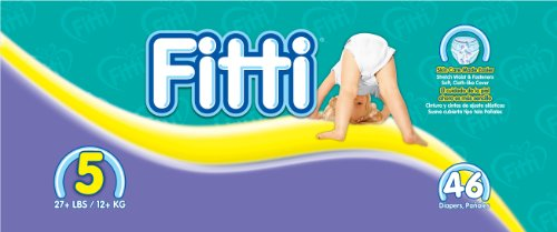 Fitti Mega Baby Diapers, Size 5, 46 Count  (184 Count (Pack of 4), Baby & Kids Zone