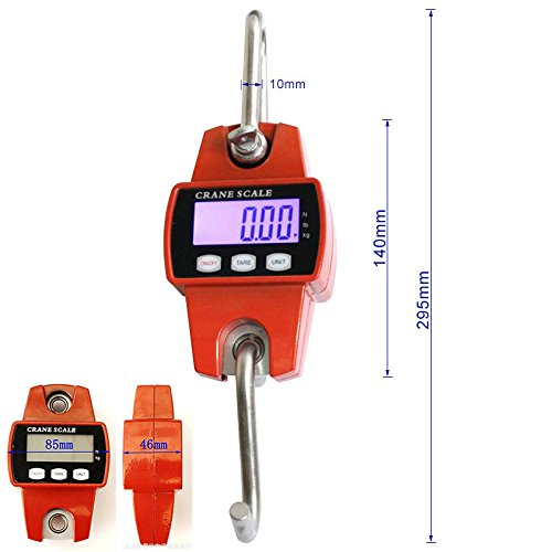 Mini Crane Scale Digital 300kg/600lbs with LCD hanging scale Escala de grúa Electrónica Báscula Digital de Grúa para Pesca Industrial con Gancho Resistente ...