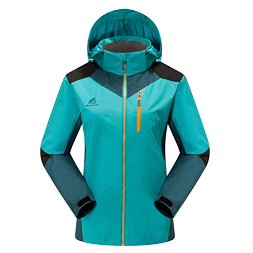 Timeiya Women's Outerwear Mountain Windproof Jacket Hooded Hiking Sportswear Spring