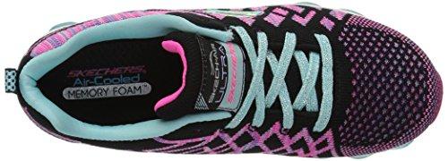 Skechers Kids Girls Skech-Air Ultra-Kick NKnit Sneaker, Black/Multi, 11.5 M US Little Kid