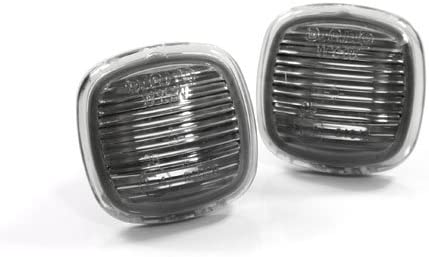 B5 Chassis TopPick 4D0949127-S Sidemarker Lights FOR Audi A4 S4 1996-1999 Smoke//Black